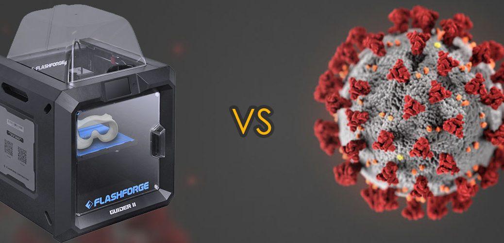 FlashForge vs Coronavírus